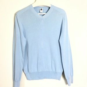 GAP Light Blue Sweater V-neck Comfort Breezy 6
